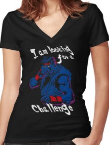 Ryu A New Challenger Women's Fitted V-Neck T-Shirt