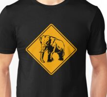 African Elephant road sign Unisex T-Shirt