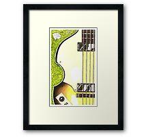 Hofner violin bass lefty Framed Print