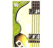 Hofner violin bass lefty Photographic Print