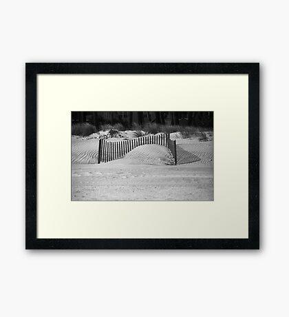 Beach Sand Dunes Framed Print