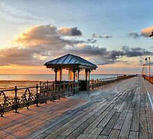 Sunset on the Pier. by Lilian Marshall