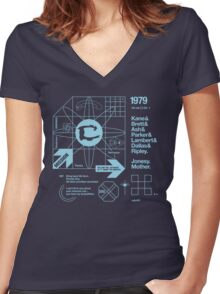 ODE #01 Women's Fitted V-Neck T-Shirt