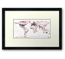 The earth Framed Print