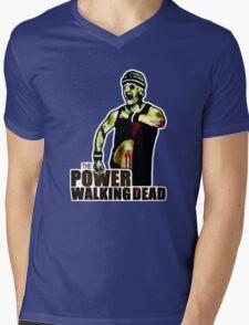 The Power Walking Dead (on Green) [ iPad / iPhone / iPod Case | Tshirt | Print ] Mens V-Neck T-Shirt