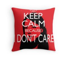 April Ludgate Doesn't Care Throw Pillow