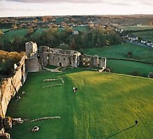 Airview from Richmond Castle tower, Yorkshire by Grace Johnson