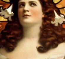 Art Nouveau Lady  Sticker