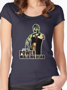 The Power Walking Dead (on Black) [ iPad / iPhone / iPod Case   Tshirt   Print ] Women's Fitted Scoop T-Shirt