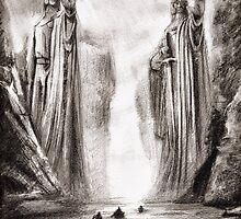 The Argonath by ElvenArt