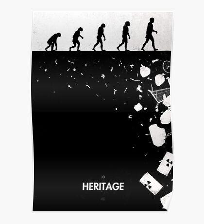 99 Steps of Progress - Heritage Poster