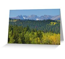 Colorado Rocky Mountain Continental Divide Autumn View Greeting Card