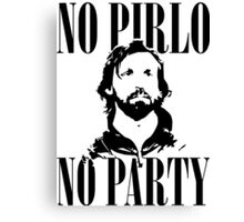 No Pirlo, No Party v2 Canvas Print