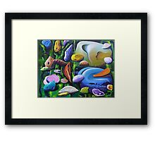 A world so strange I have to stay Framed Print