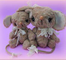 Handmade bears from Teddy Bear Orphans - Molly and Matilda Mice by Penny Bonser