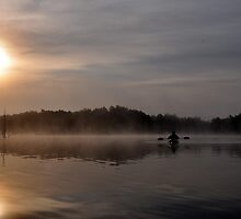Morning Kayaker by Gayle Dolinger