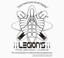 Legion's Fine Cuisine - Black (Red Dwarf) T-Shirt