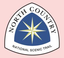 North Country Trail Sign, USA Kids Tee