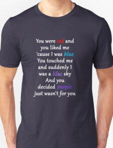 Halsey Colors Lyrics Unisex T-Shirt