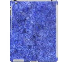 Royal blue swirls doodles iPad Case/Skin