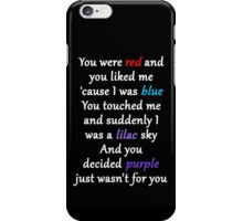 Halsey Colors Lyrics iPhone Case/Skin