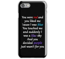 Halsey Colors Lyrics iPhone Case/Skin