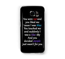Halsey Colors Lyrics Samsung Galaxy Case/Skin