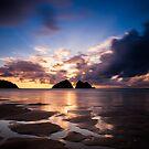 Holywell Bay Sunset by Jon Bradbury