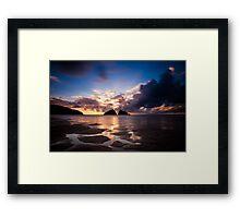 Holywell Bay Sunset Framed Print