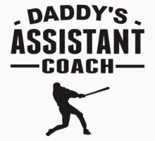 Daddy's Assistant Baseball Coach One Piece - Short Sleeve
