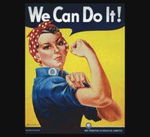 WE CAN DO IT, Rosie the Riveter, Howard Miller, American, wartime, propaganda, poster by TOM HILL - Designer