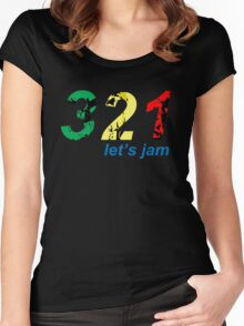 321...let's jam Women's Fitted Scoop T-Shirt