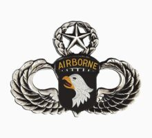 101st Airborne Division patch on sliver jumpwings. Kids Clothes