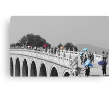 Umbrellas in Beijing 17 arch bridge Canvas Print