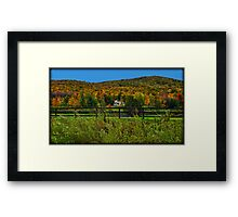 Fall Landscape On the Other Side of the Fence Framed Print