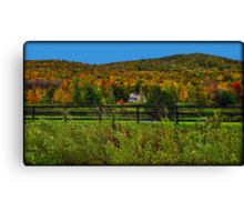 Fall Landscape On the Other Side of the Fence Canvas Print