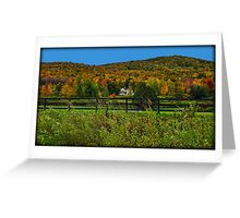 Fall Landscape On the Other Side of the Fence Greeting Card