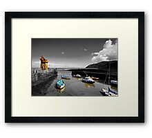 Lynmouth North Devon, selective colouring Framed Print