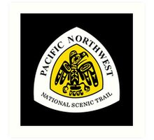 Pacific Northwest Trail Sign, USA Art Print