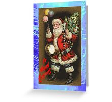Christmas Card - Father Christmas with presents Greeting Card
