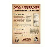 Ada Lovelace: First Computer Programmer Art Print