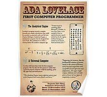 Ada Lovelace: First Computer Programmer Poster