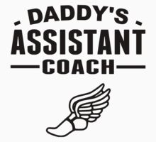 Daddy's Assistant Track Coach One Piece - Short Sleeve