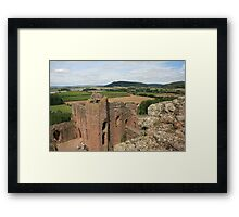 Goodrich Castle, view of valley to Symonds Yat and River Wye Framed Print