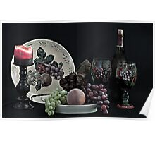 The Ceramic Plate of Fruit Poster