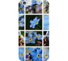 Forget-Me-Nots Montage 1 iPhone Case/Skin
