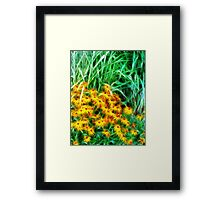 Kathie McCurdy Black Eyed Susans Abstract Flowers Framed Print