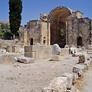 Gortyn Archaeological site, Apse,  in Crete by Grace Johnson