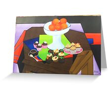 ORANGE CHOCOLATE CUP CAKES Greeting Card