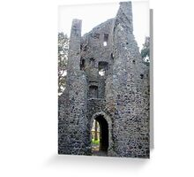 Cross Kirk, 12th century monastery, Peebles Scotland Greeting Card